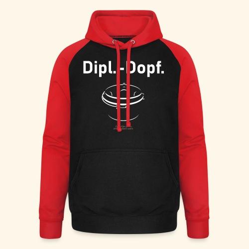 Grill T Shirt Dipl.-Dopf. für Dutch Oven Fans - Unisex Baseball Hoodie