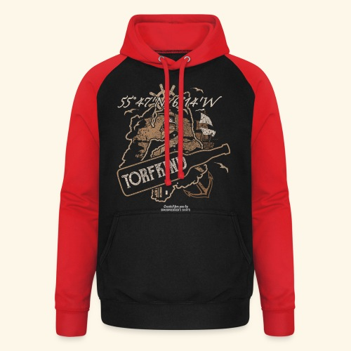 Whisky T Shirt Torfkind für Islay Fans - Unisex Baseball Hoodie