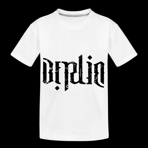 "Ambigramm ""Berlin"" - Teenager Premium Bio T-Shirt"