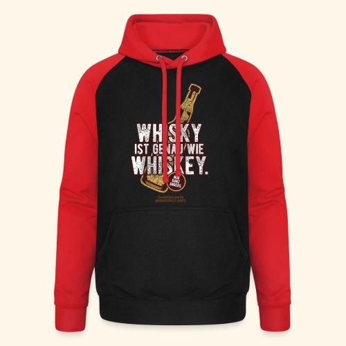 Whisky ist wie Whiskey - Unisex Baseball Hoodie
