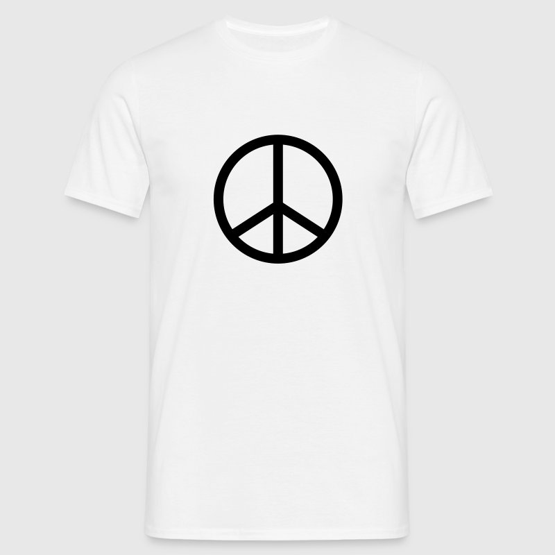 Blanc Peace and Love 2 Hommess - T-shirt Homme