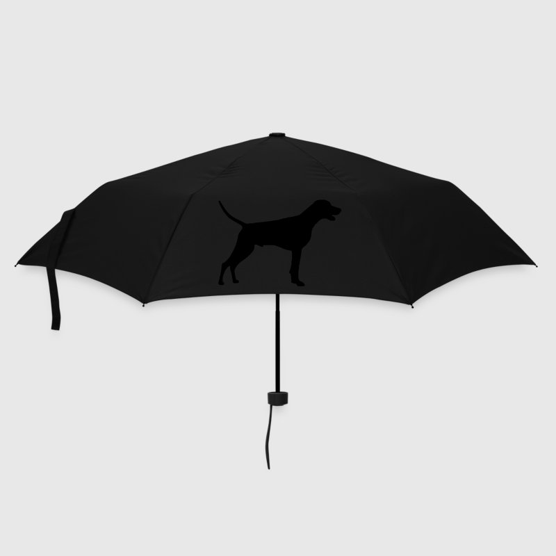 Navy weimaraner Umbrellas - Umbrella (small)