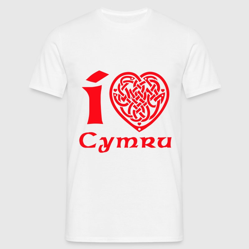 White I love Wales T-Shirts - Men's T-Shirt