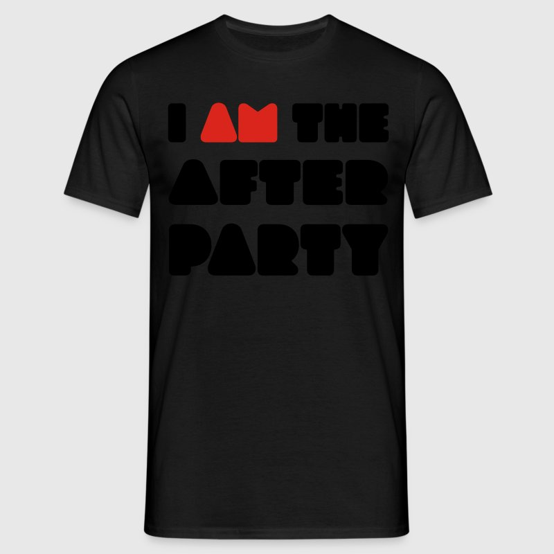 Zwart I AM the afterparty T-shirts (korte mouw) - Mannen T-shirt