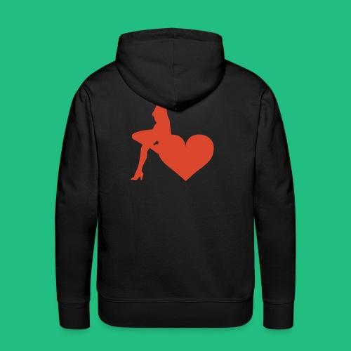LOVE BN - Sweat-shirt à capuche Premium pour hommes