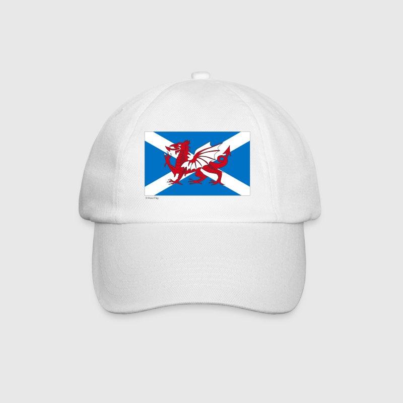 White/white Scotland Wales Mixed Flag Caps & Hats - Baseball Cap