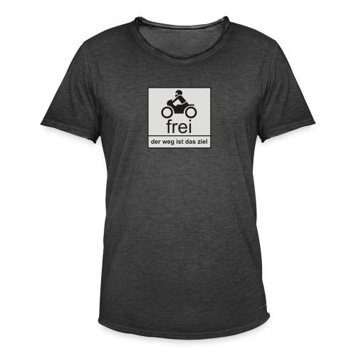 der weg ist das ziel - Männer Vintage T-Shirt