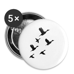 gaggle of geese - Buttons small 25 mm
