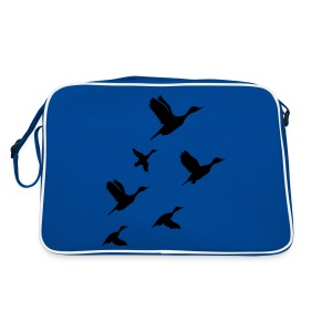 gaggle of geese - Retro Bag
