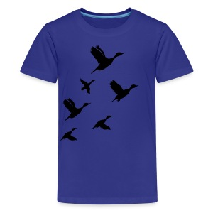 gaggle of geese - Teenage Premium T-Shirt