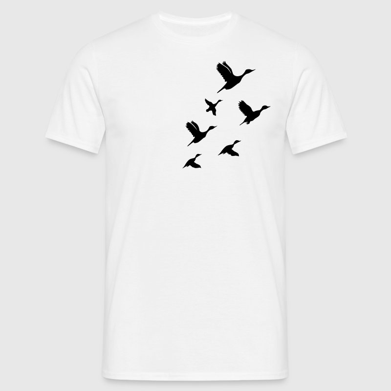 White Flying Ducks Men's Tees - Men's T-Shirt