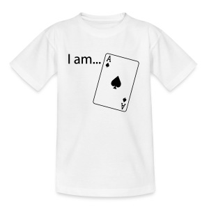 I am ACE - Flock Print - Long Sleeve - Teenage T-shirt