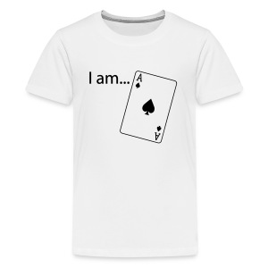 I am ACE - Flock Print - Long Sleeve - Teenage Premium T-Shirt
