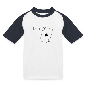 I am ACE - Flock Print - Long Sleeve - Kids' Baseball T-Shirt