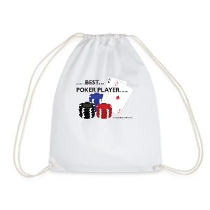 Best Poker Player Badge - Drawstring Bag