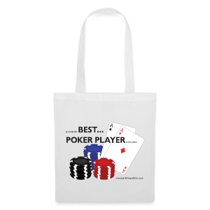 Best Poker Player Badge - Tote Bag