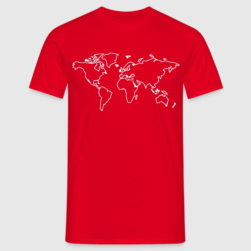 Rot Weltkarte - The world T-Shirt - Männer T-Shirt