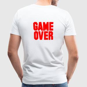 Blanco Game Over / On Ropa interior - Camiseta premium hombre