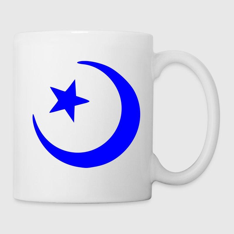 Weiß Halbmond und Stern - Islam - Religion - Glaube Geschenke - Tasse