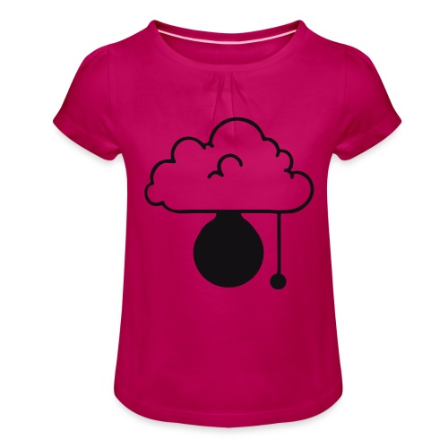 ERLEUCHTUNG-red|reflex (Boys) - Mädchen-T-Shirt mit Raffungen