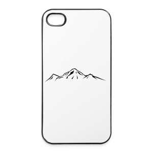 Mountain hooded jacket - iPhone 4/4s Hard Case