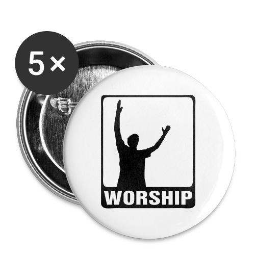 WORSHIP-black|gold (Boys) - Buttons klein 25 mm (5er Pack)