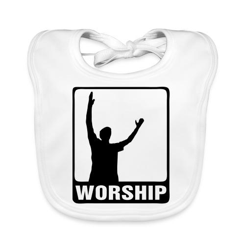 WORSHIP-black|gold (Boys) - Baby Bio-Lätzchen
