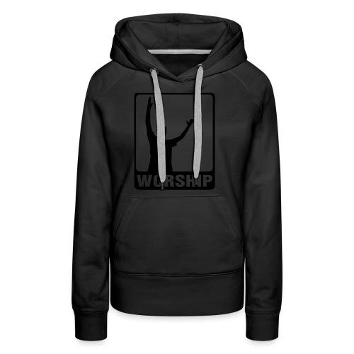 WORSHIP-black|gold (Boys) - Frauen Premium Hoodie