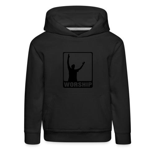 WORSHIP-black|gold (Boys) - Kinder Premium Hoodie