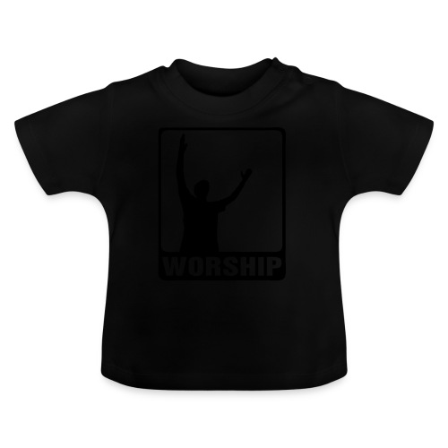 WORSHIP-black|gold (Boys) - Baby T-Shirt
