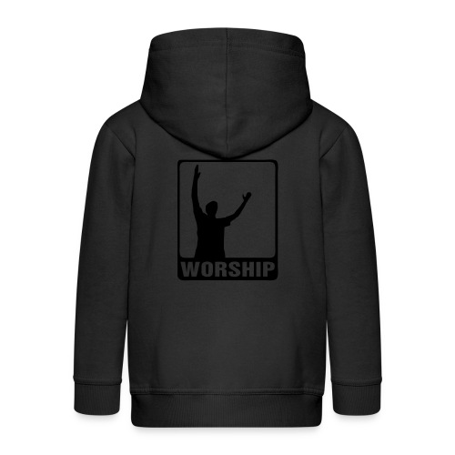 WORSHIP-black|gold (Boys) - Kinder Premium Kapuzenjacke