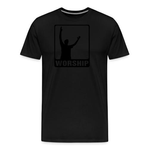 WORSHIP-black|gold (Boys) - Männer Premium T-Shirt