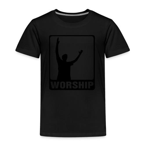 WORSHIP-black|gold (Boys) - Kinder Premium T-Shirt