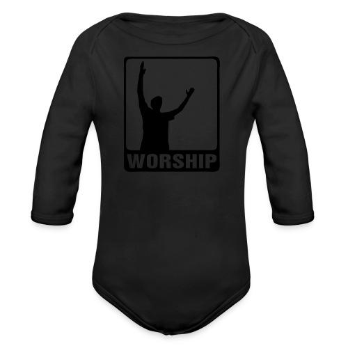 WORSHIP-black|gold (Boys) - Baby Bio-Langarm-Body