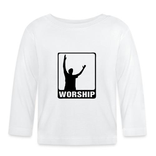 WORSHIP-black|gold (Boys) - Baby Langarmshirt