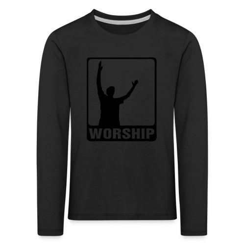 WORSHIP-black|gold (Boys) - Kinder Premium Langarmshirt