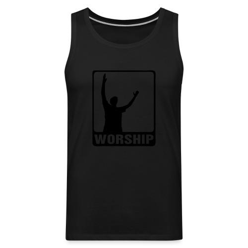 WORSHIP-black|gold (Boys) - Männer Premium Tank Top