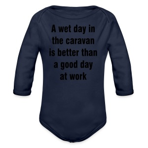 A wet day in the caravan - Longlseeve Baby Bodysuit