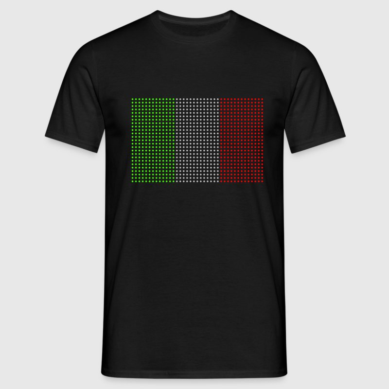 Black geo_flag_italy_plsph_3c Men's Tees (short-sleeved) - Men's T-Shirt