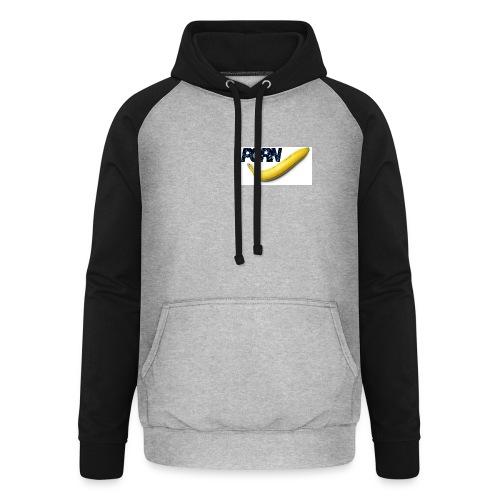 PORN banana | heart print - Unisex Baseball Hoodie