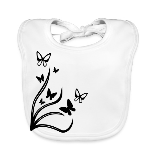 Butterflies - Baby Organic Bib