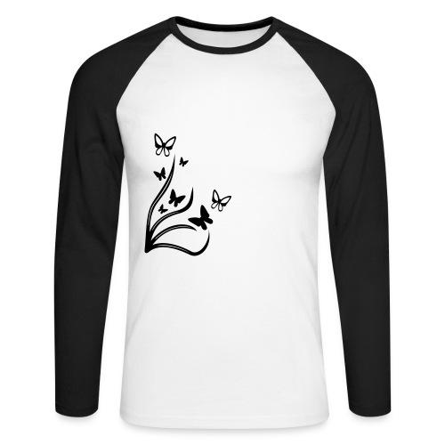 Butterflies - Men's Long Sleeve Baseball T-Shirt