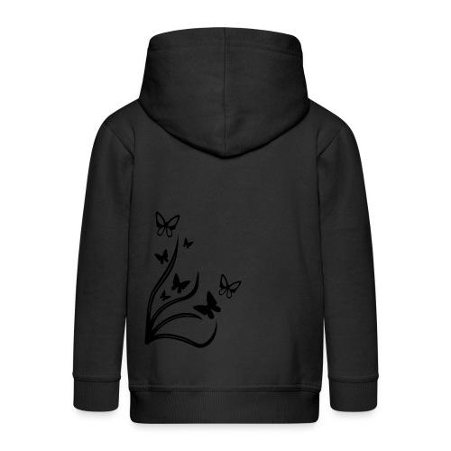 Butterflies - Kids' Premium Zip Hoodie
