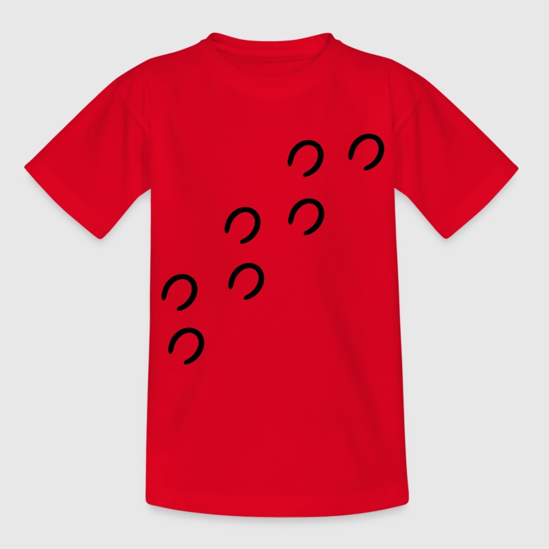 Rot Pferdespuren Kinder Shirts - Teenager T-Shirt
