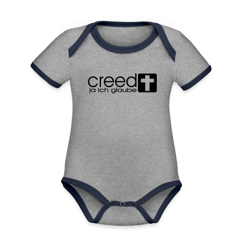 CREED-black|gold (Boys) - Baby Bio-Kurzarm-Kontrastbody