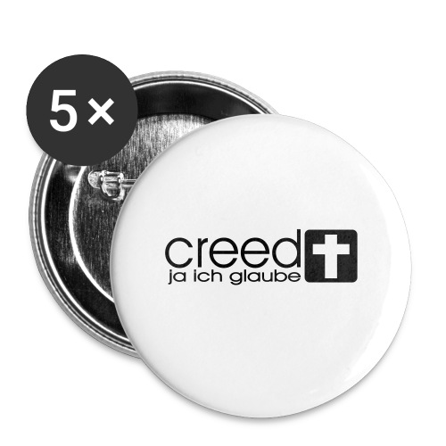 CREED-black|gold (Boys) - Buttons klein 25 mm (5er Pack)