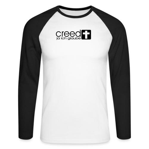 CREED-black|gold (Boys) - Männer Baseballshirt langarm