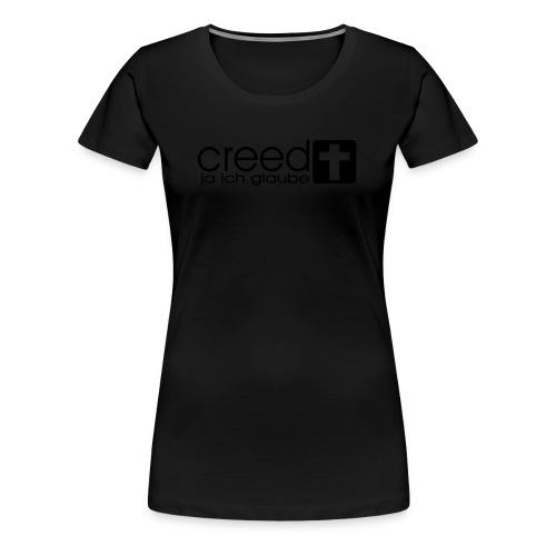 CREED-black|gold (Boys) - Frauen Premium T-Shirt