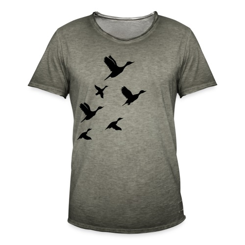 gaggle of geese - Männer Vintage T-Shirt