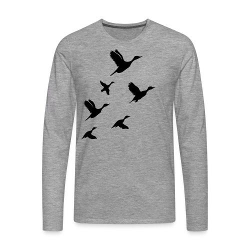 gaggle of geese - Männer Premium Langarmshirt
